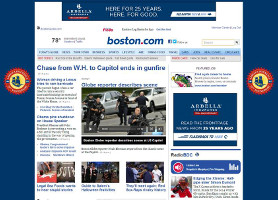 Boston.com Takeover Homepage